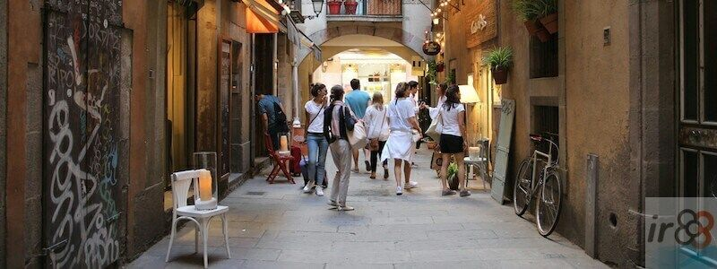 quartiers et zones de Barcelone à pied