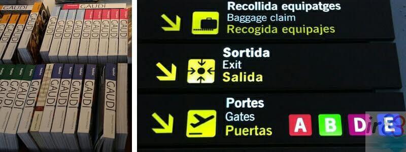souvenir aéroport Barcelone