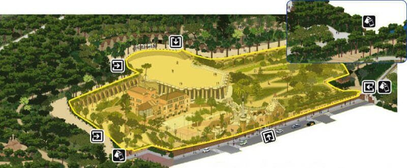 zone monumentale Parc Güell