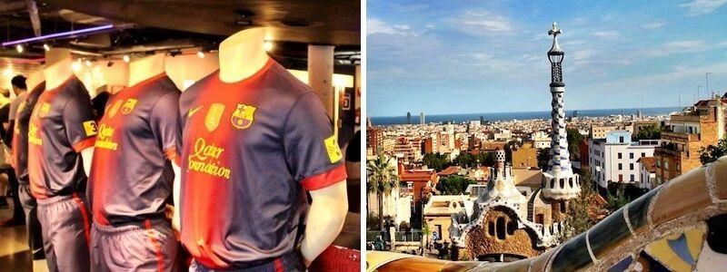 Camp Nou et Parc Güell