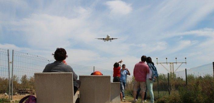 Belvédère avions Aéroport Barcelone El Prat