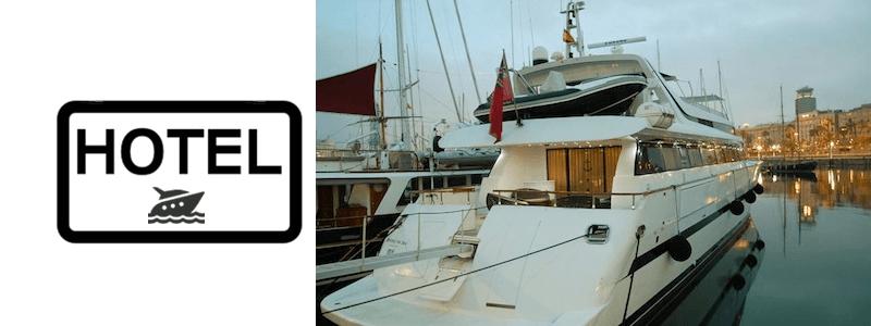 Hôtel bateaux Barcelone