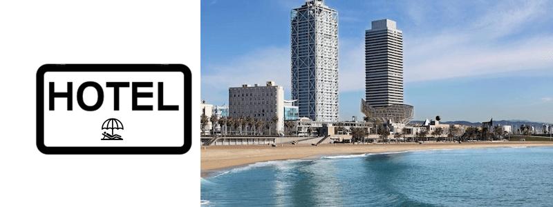 Hôtel sur la plage Barcelone