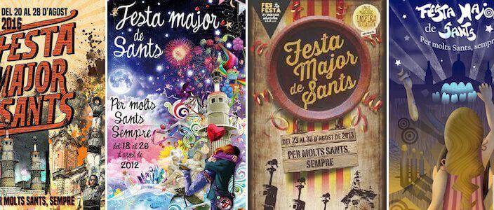 Festa Major Sants Barcelone