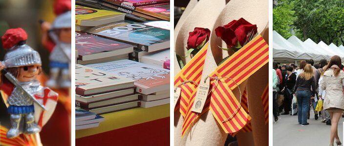 Jour Sant Jordi Barcelone