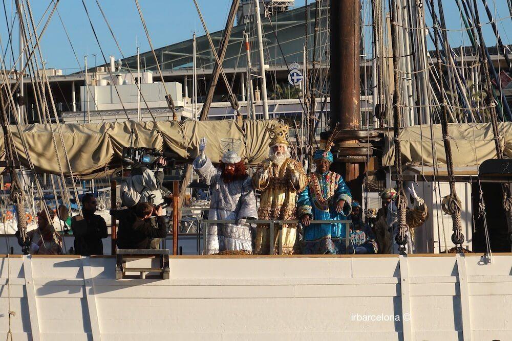 arrivée Rois Mages en bateau