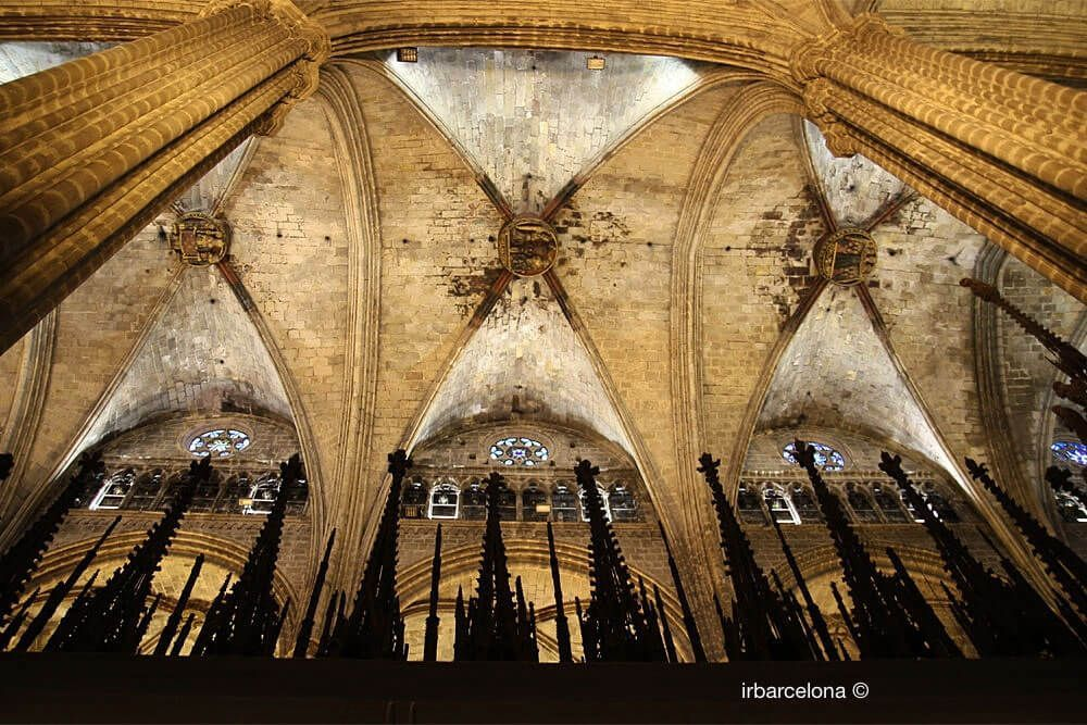 plafond de la Cathédrale de Barcelone
