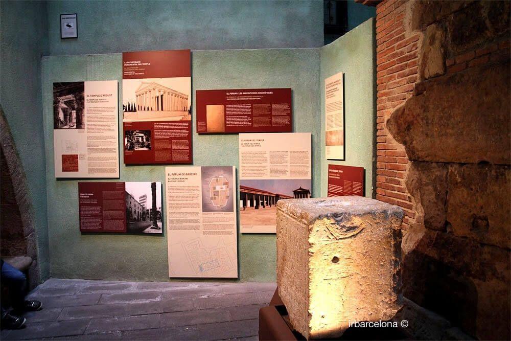 panneaux information Temple Auguste