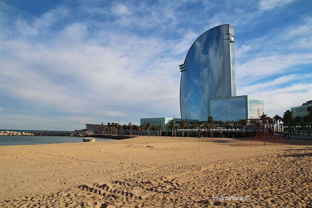 W Hotel Barcelona et la plage