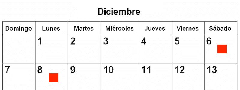 6 et 8 décembre