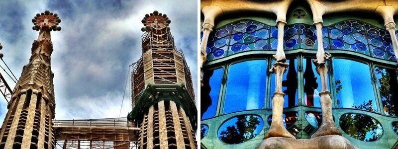 Casa Batlló et Sagrada Familia