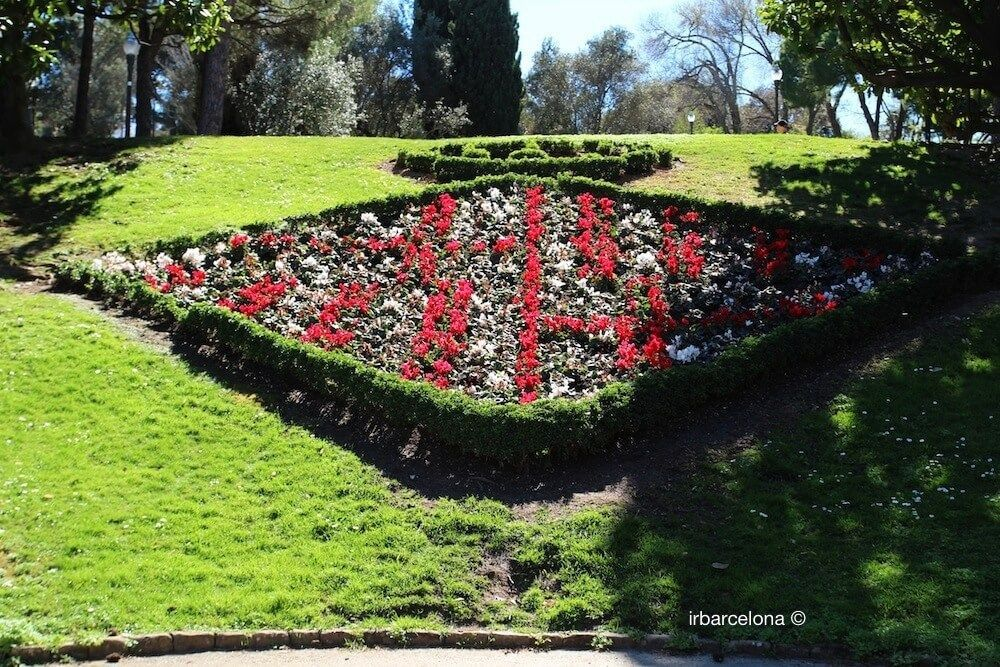 Blason floral Barcelone