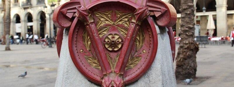 lampadaire de Antoni Gaudí