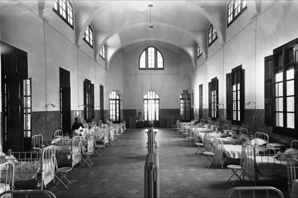 intérieur pavillon Sant Pau