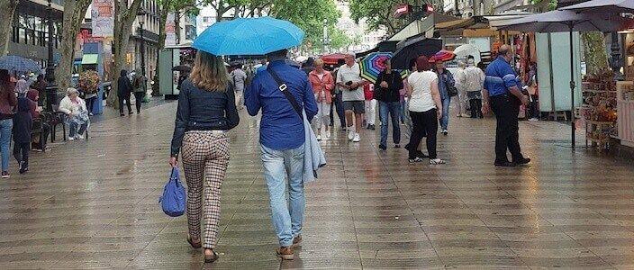 Barcelone quand il pleut