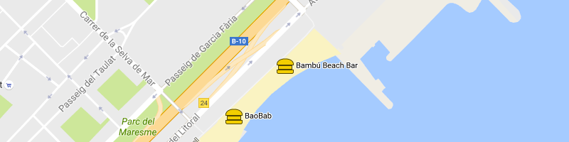 carte Bambú Beach Bar