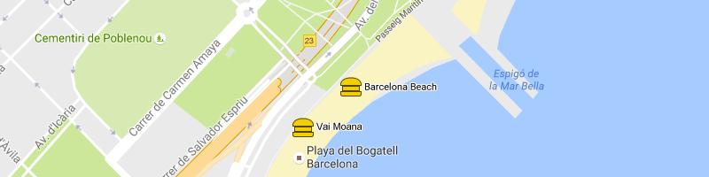 carte Barcelona Beach