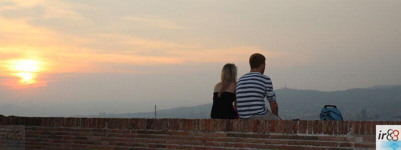 coucher de soleil Montagne de Montjuïc