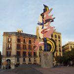 Tête de Barcelone au coucher du soleil