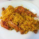 paella fruits de mer - aux poissons