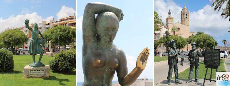 statues et sculptures urbaines à Sitges
