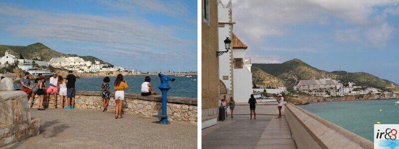 miradors promenade maritime Sitges