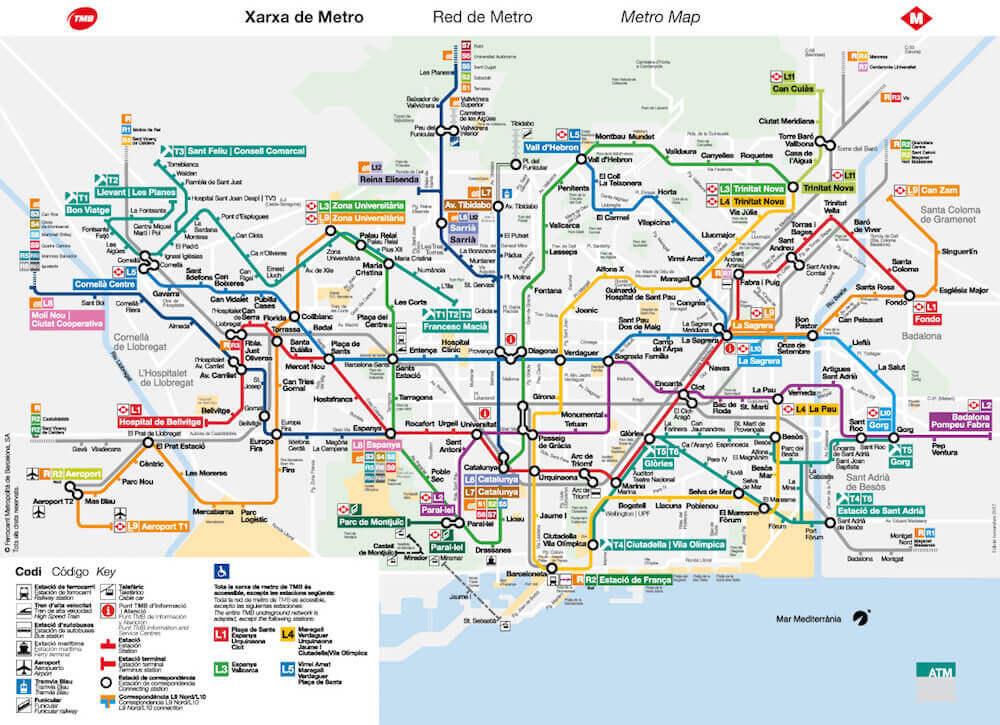 Metro Barcelona 2019 U Bahn Tickets Fahrkarten Preise