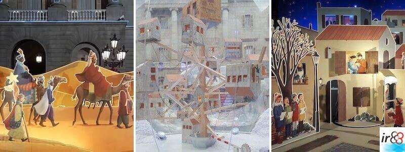 Crèche de Noël place Sant Jaume Barcelone